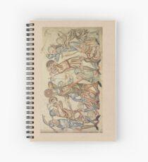 Medieval battle scene Spiral Notebook