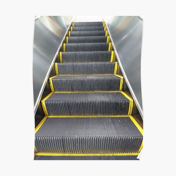 Escalator, New York, Manhattan, Brooklyn, New York City, architecture, street, building, tree, car,   Poster