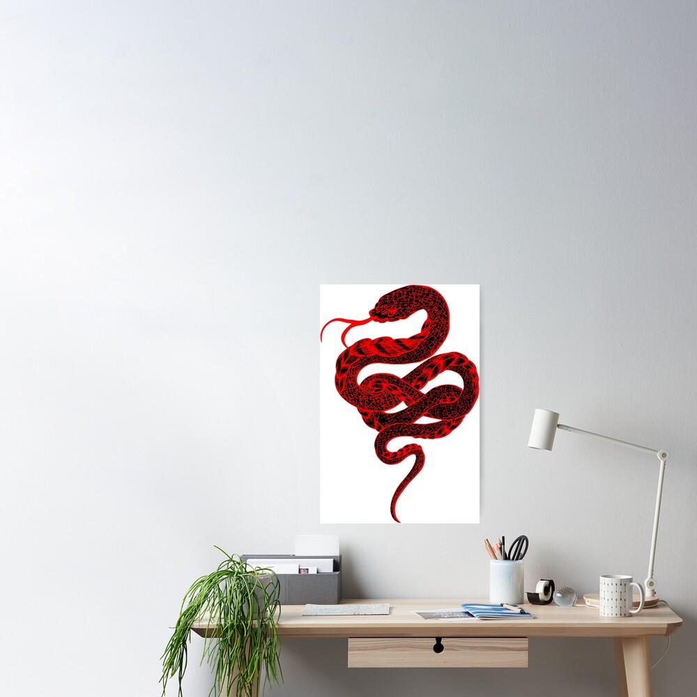 Red Snake Poster