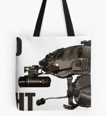 """Tactical Brainbucket """"into the night"""" Tote Bag"""