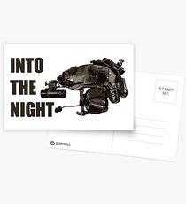 "Tactical Brainbucket ""into the night"" Postcards"