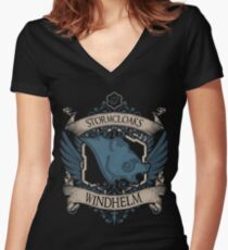 Stormcloaks - Windhelm Women's Fitted V-Neck T-Shirt