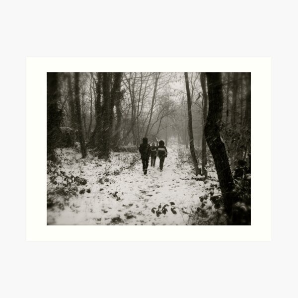Blizzard in the Woods Art Print