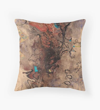 Rust stain inside Corroding Gold Throw Pillow