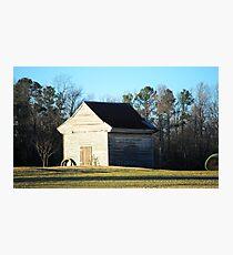Wierd Barn Photographic Print