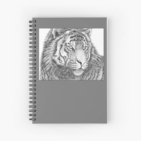 Tiger Pen Drawing Spiral Notebook