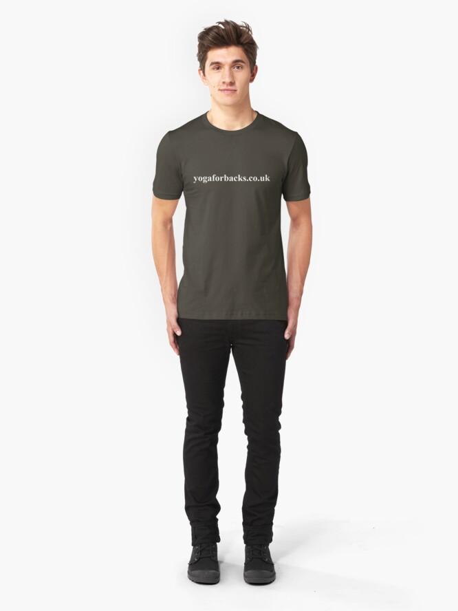 Alternate view of yoga for backs tee shirt Slim Fit T-Shirt
