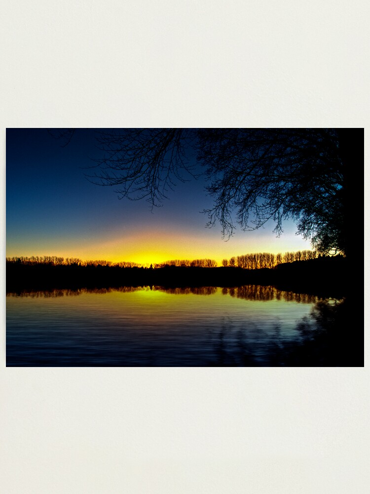 Alternate view of sunset reflection Photographic Print