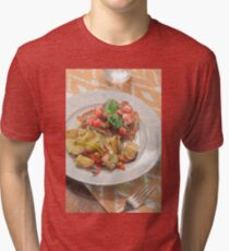 Parmesan Crusted Chicken Breast Tri-blend T-Shirt