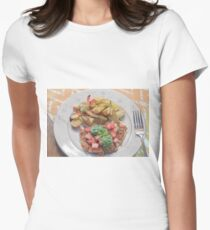 Parmesan Crusted Chicken Breast Women's Fitted T-Shirt