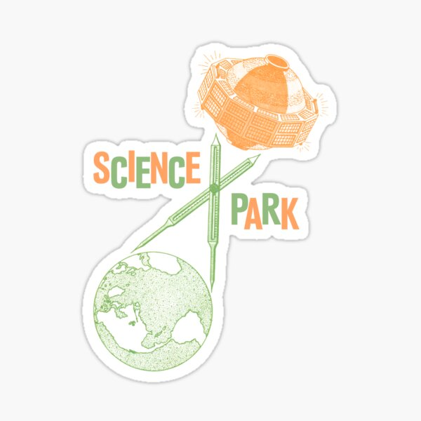 """SCIENCE PARK """"Geodetic Satellite"""" Design Sticker"""