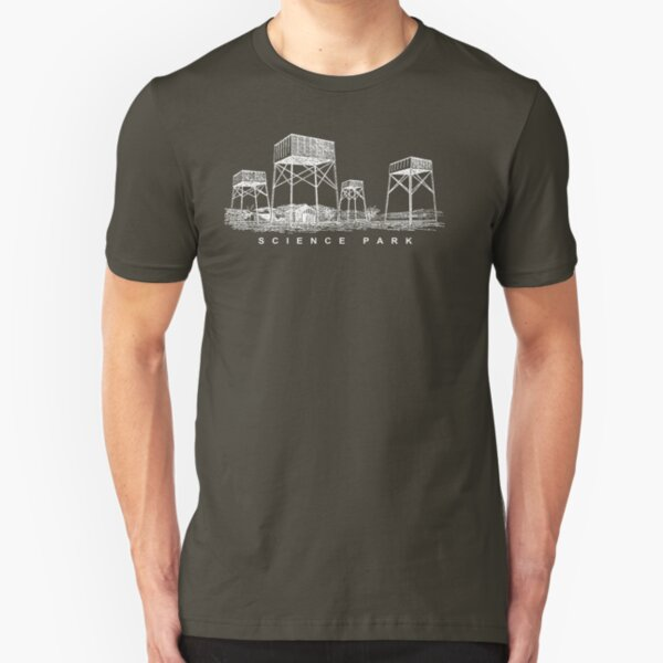 "SCIENCE PARK ""Rainmaker"" Design Slim Fit T-Shirt"