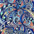 Drawing floral abstract background by MEDUSA GraphicART