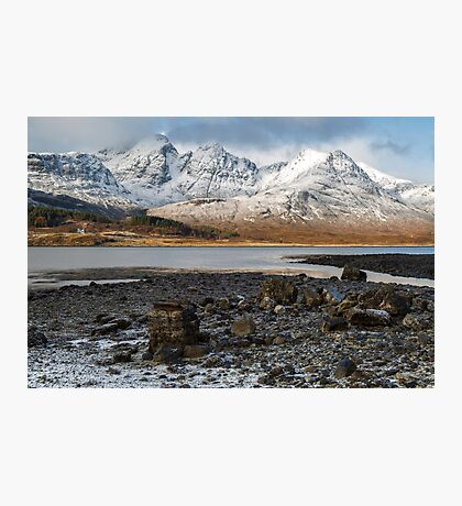 Bla Bheinn( Blaven) in the Snow Photographic Print