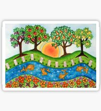 """""""Sunrise At The Orchard""""  Sticker"""