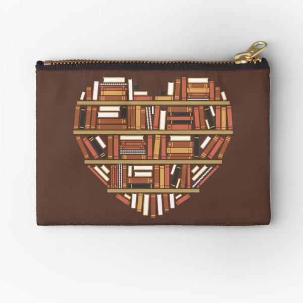 I Heart Books Zipper Pouch