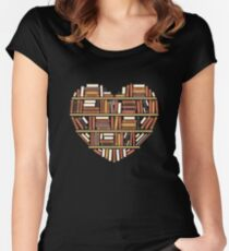 I Heart Books Women's Fitted Scoop T-Shirt