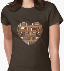 I Herz Bücher Tailliertes T-Shirt für Frauen