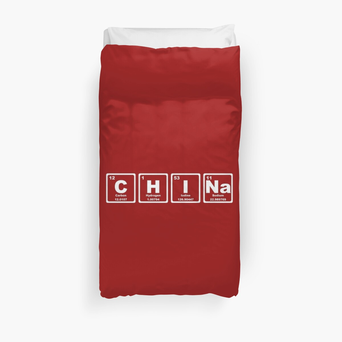 China periodic table duvet covers by graphix redbubble china periodic table by graphix gamestrikefo Images