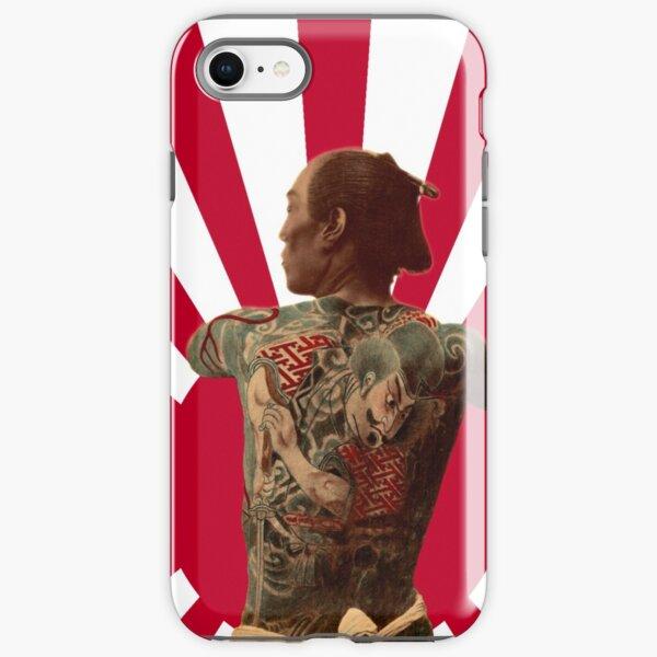 Tattooed Samurai Rising Sun iPhone Tough Case