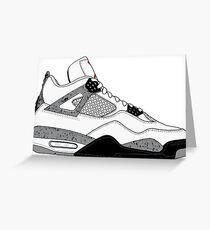 "Air Jordan IV (4) ""White Cement"" Greeting Card"