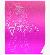 Turn A Gundam Vaporwave Poster
