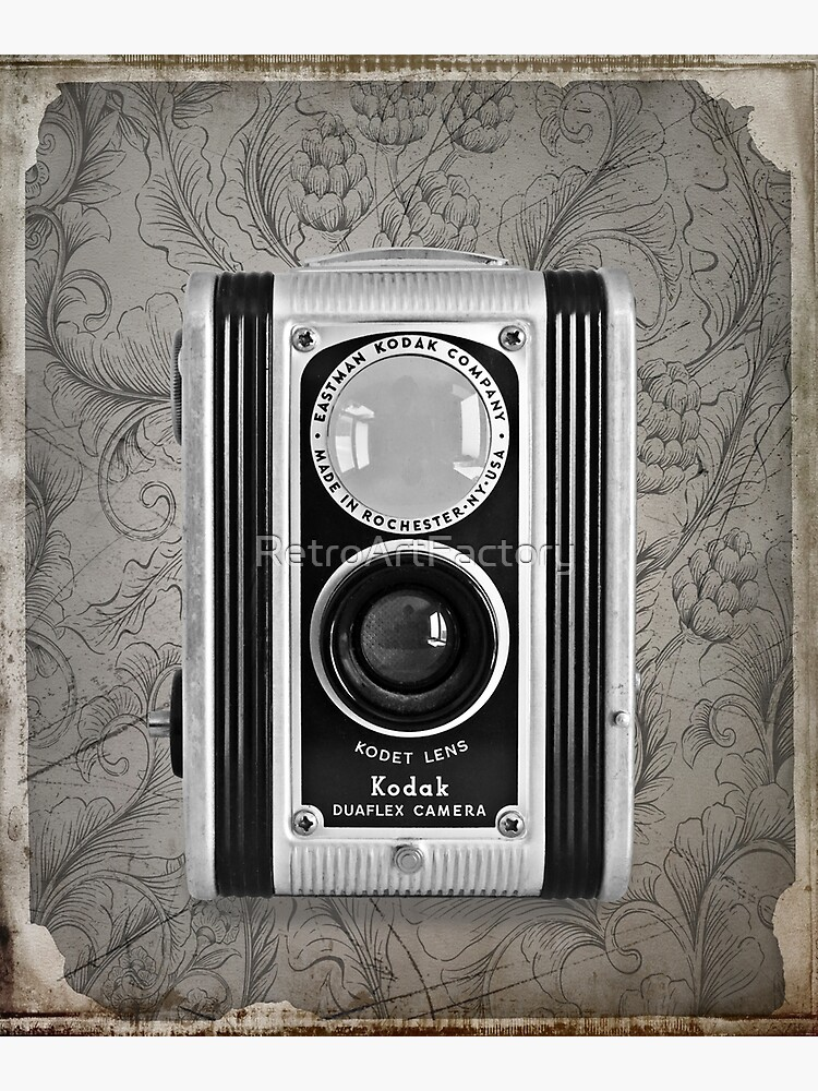 Kodak Duaflex Camera - Vintage Black and White by RetroArtFactory