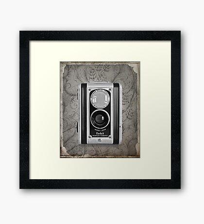 Kodak Duaflex Camera - Vintage Black and White Framed Print
