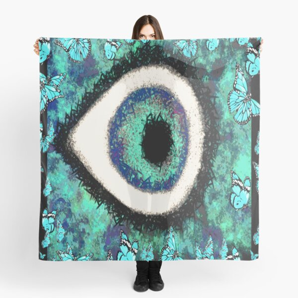 Eye & Butterflies Scarf