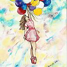 Ballerina with Balloons 1 by Janis Lee Colon