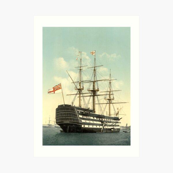 Der Sieg - Lord Nelsons Flaggschiff Kunstdruck