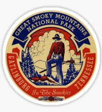Pegatina Gatlinburg Great Smoky Mountains National Park Vinilo de viaje de época