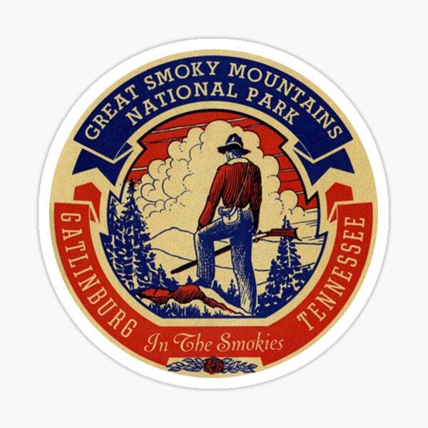 Gatlinburg Great Smoky Mountains National Park Vintage Travel Decal Sticker