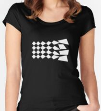 Abstract Graphic Women's Fitted Scoop T-Shirt