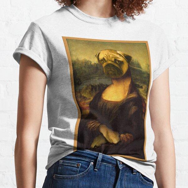 Mona Lisa Pug Classic T-Shirt