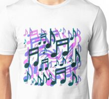 Music Notes Lively Expressive Blue Green Unisex T-Shirt
