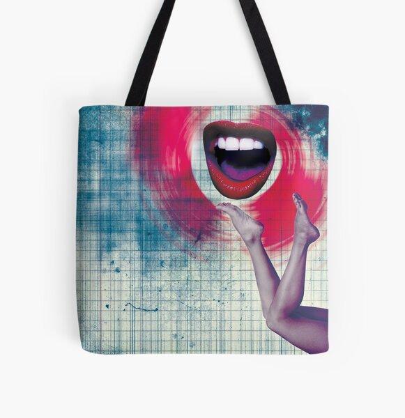 Color Chaos Collection -- Bla Bla Bla All Over Print Tote Bag