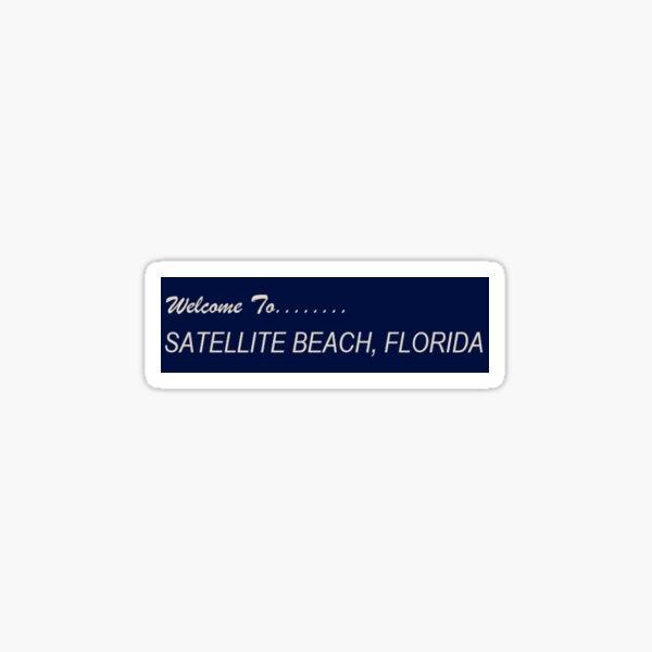 Satellite Beach Sticker Sticker