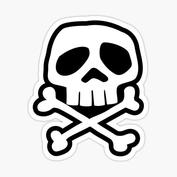 Old School Punk Rock Skull Sticker