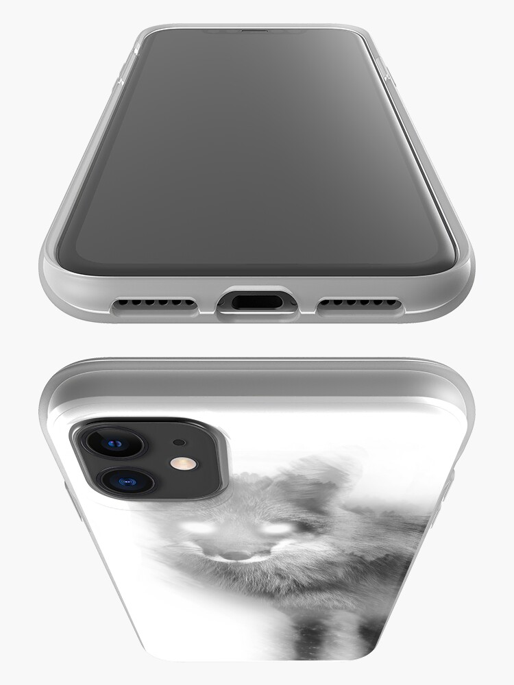 Alternate view of Double Exposure Fox iPhone Case & Cover
