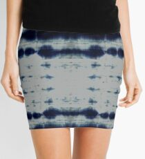 Shibori Strips Mini Skirt