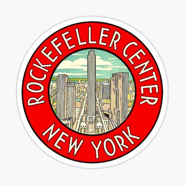 Rockefeller Center New York Vintage Travel Decal Sticker