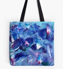 Blue Brush Tote Bag