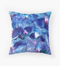 Blue Brush Throw Pillow