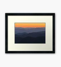 Seven Layer Sunset Framed Print