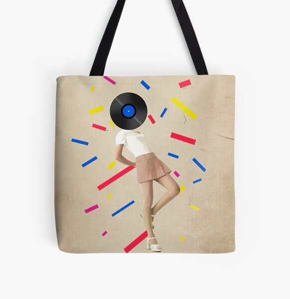 Color Chaos Collection -- The Party Never Ends All Over Print Tote Bag
