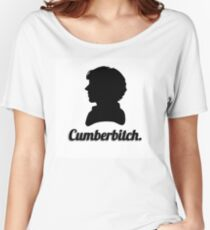 Cumberbitch silhouette design Women's Relaxed Fit T-Shirt