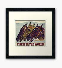 VINTAGE HORSE RACE POSTER Pop Art Framed Print