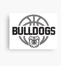 Bulldog Basketball Hoops - Dark Canvas Print