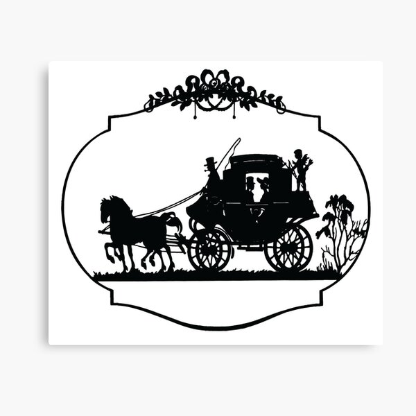 VINTAGE HORSE AND CARRIAGE Pop Art Canvas Print